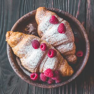 Raspberry Croissant (Vegan)